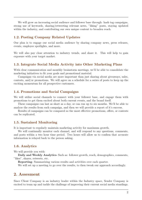 005 Amazing Social Media Marketing Proposal Template Inspiration  Plan Free Download Pdf WordFull