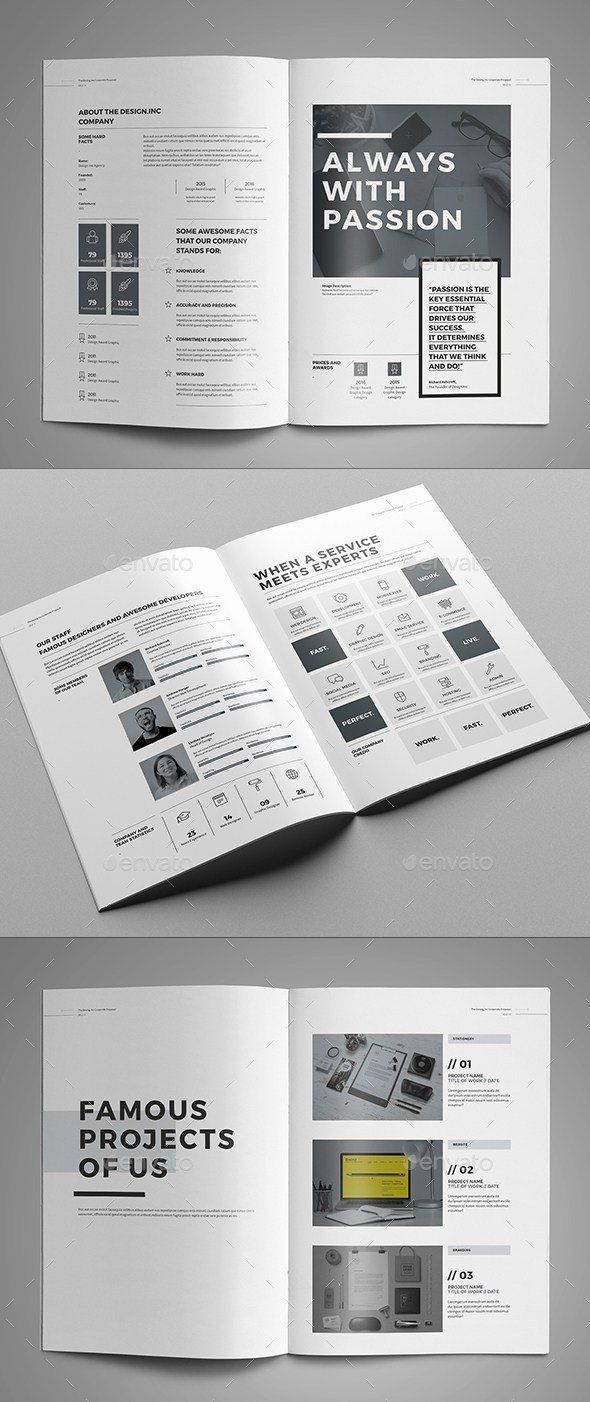 005 Amazing Web Design Proposal Template Indesign High Resolution Full