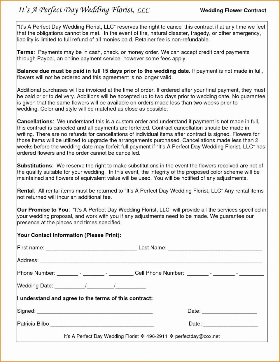 005 Amazing Wedding Videography Contract Template Highest Clarity  Pdf Example Word960