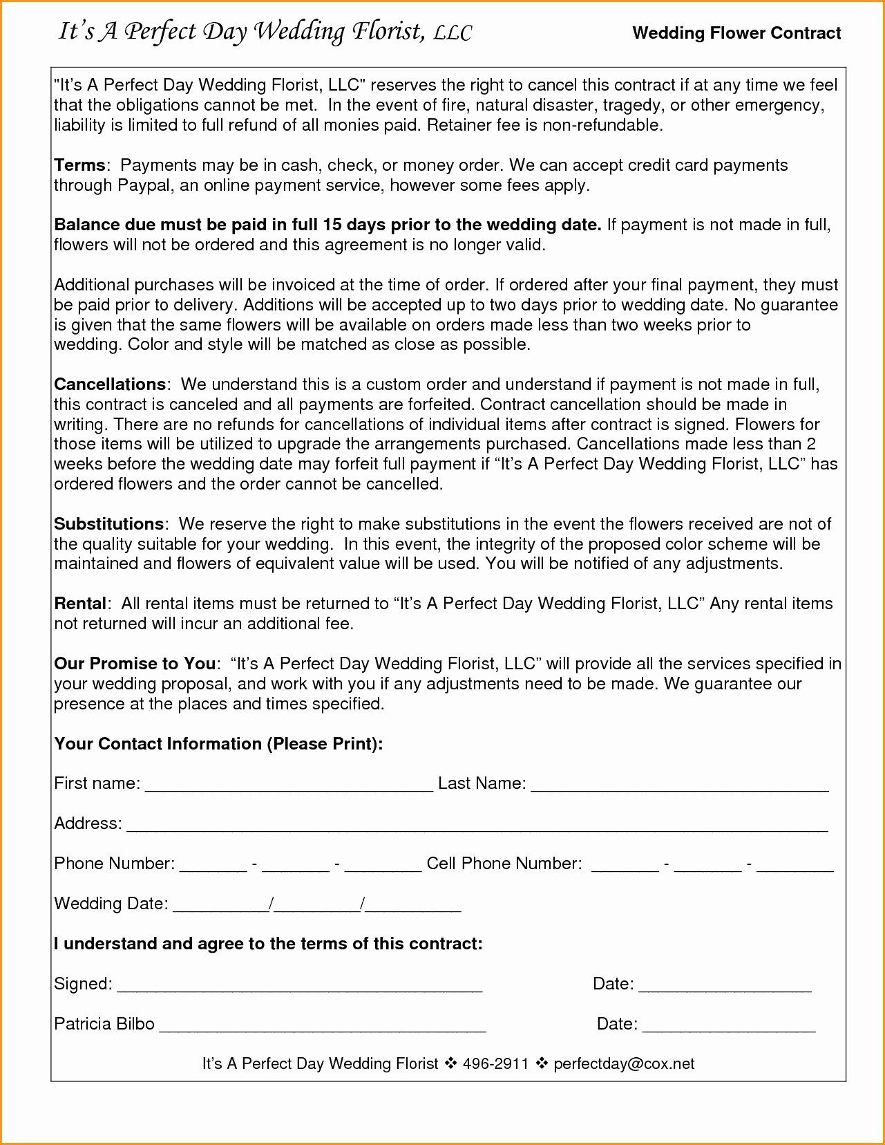 005 Amazing Wedding Videography Contract Template Highest Clarity  FreeFull