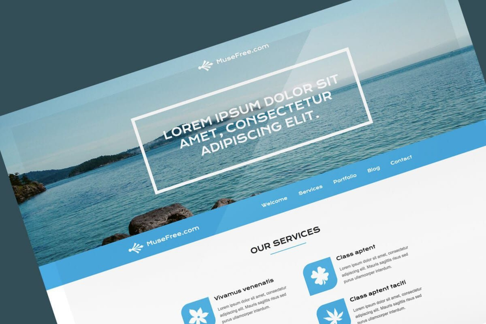 005 Archaicawful Adobe Muse Template Free Design  2019 Ecommerce Download Parallax1920