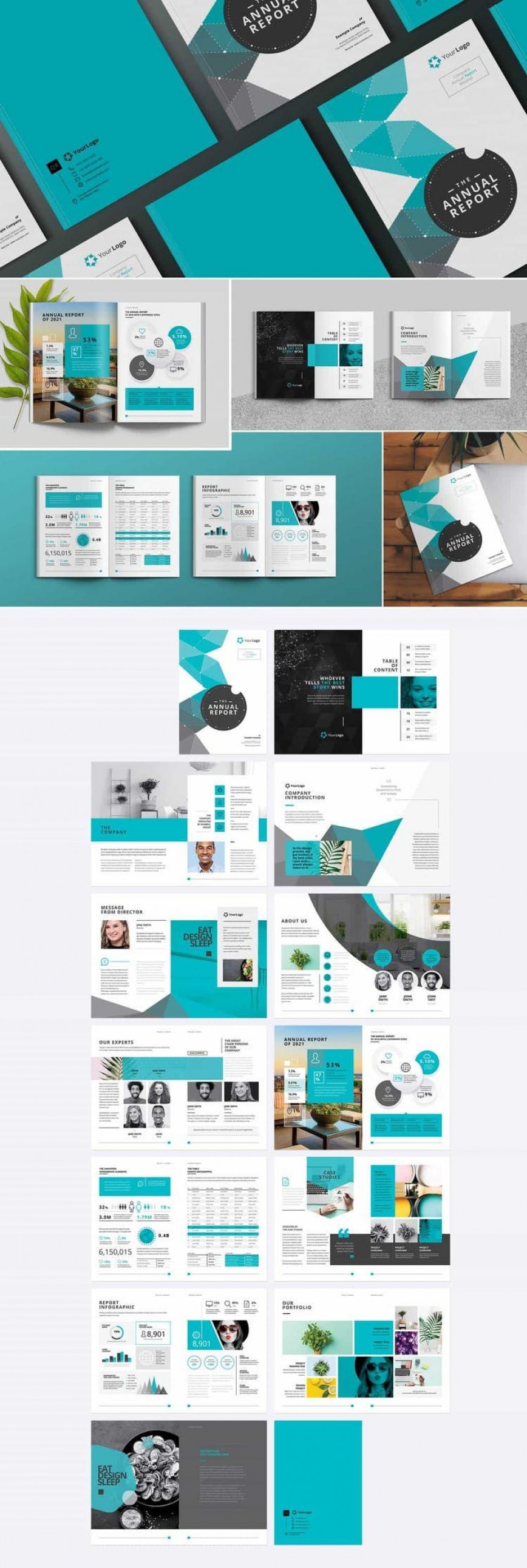 005 Archaicawful Annual Report Design Template Photo  Templates Free Download Indesign Vector