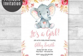 005 Archaicawful Baby Shower Invitation Girl Printable High Resolution