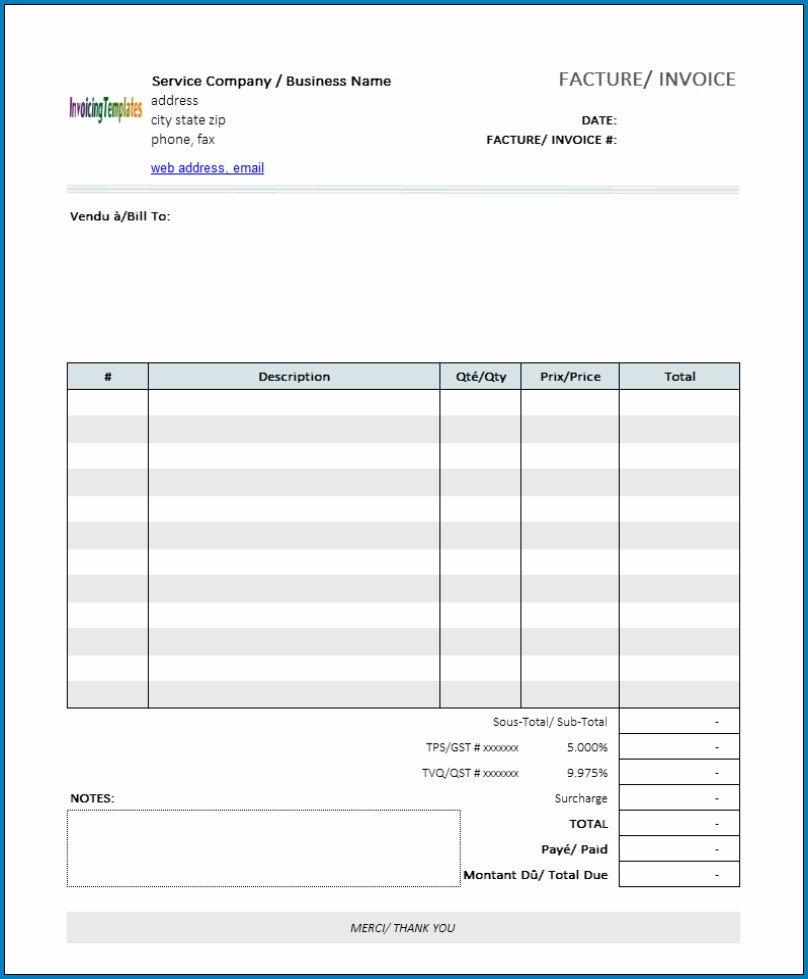 Free Editable Invoice Template Pdf Addictionary