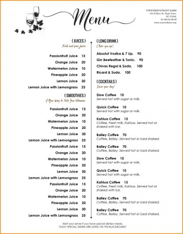 005 Archaicawful Free Menu Template For Word High Definition  Cupcake Download Drink Microsoft360