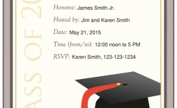 005 Archaicawful Graduation Party Invitation Template Idea  Microsoft Word 4 Per Page