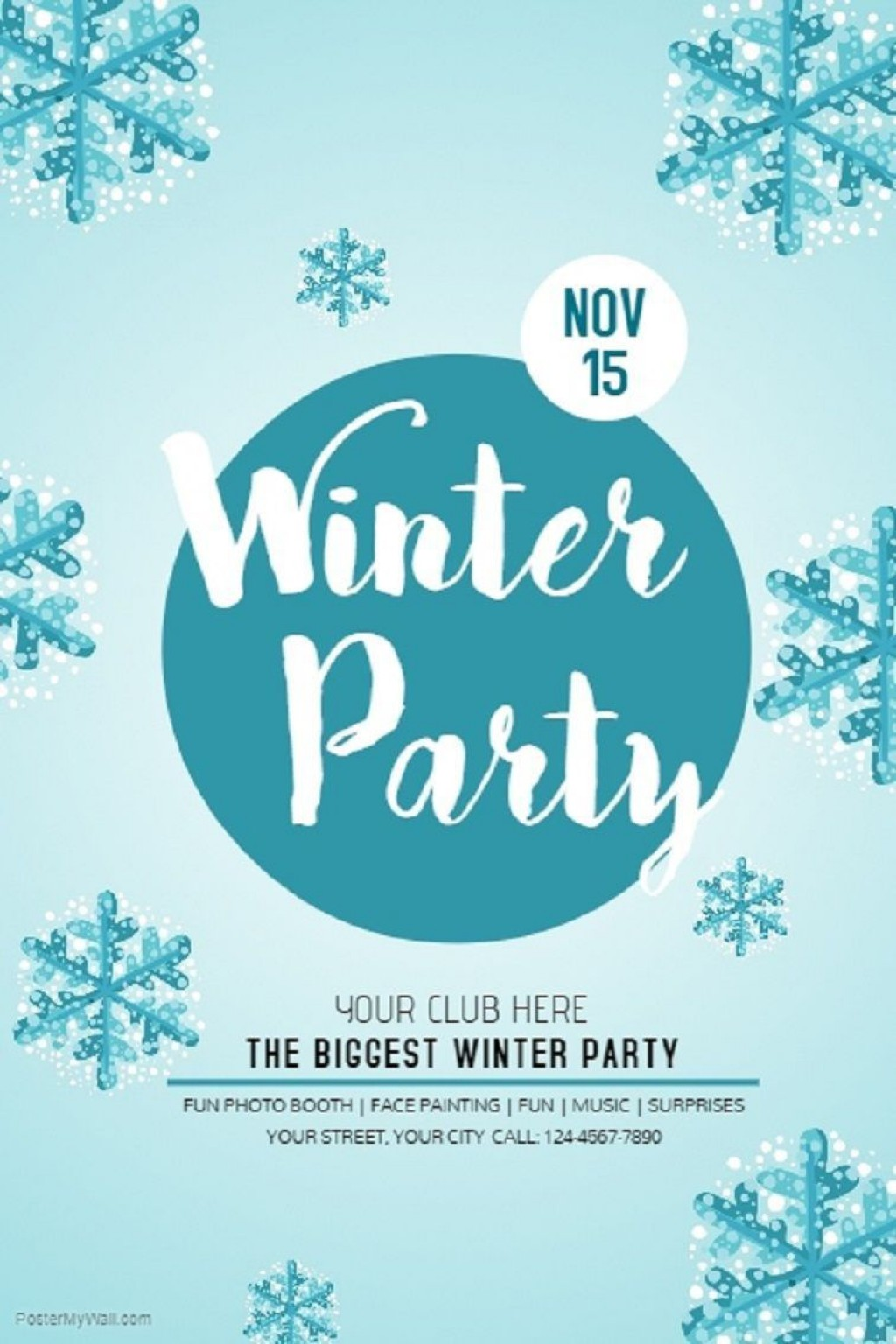 005 Archaicawful Holiday Party Flyer Template Free Highest Clarity  OfficeLarge