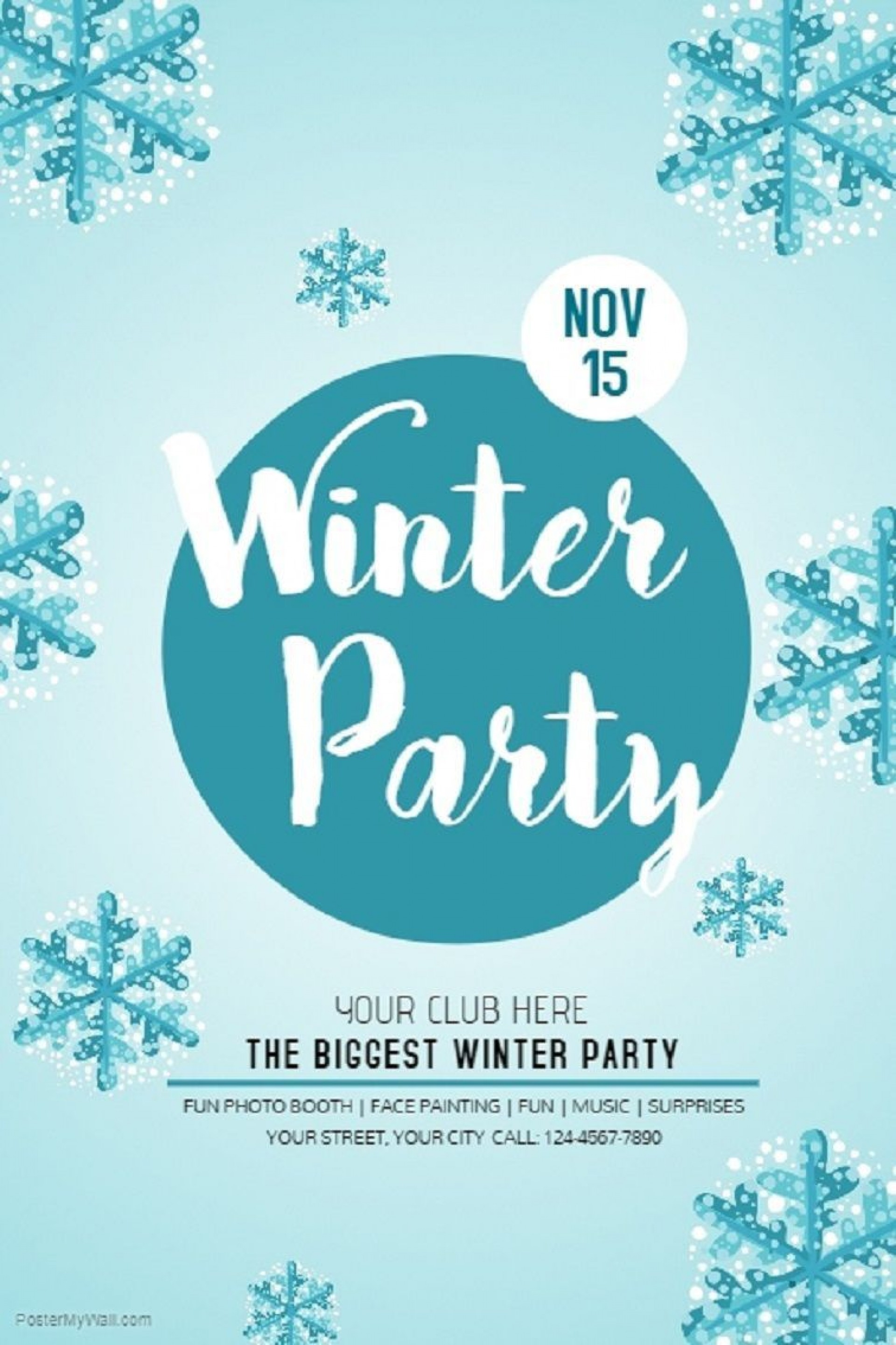 005 Archaicawful Holiday Party Flyer Template Free Highest Clarity  Office1920