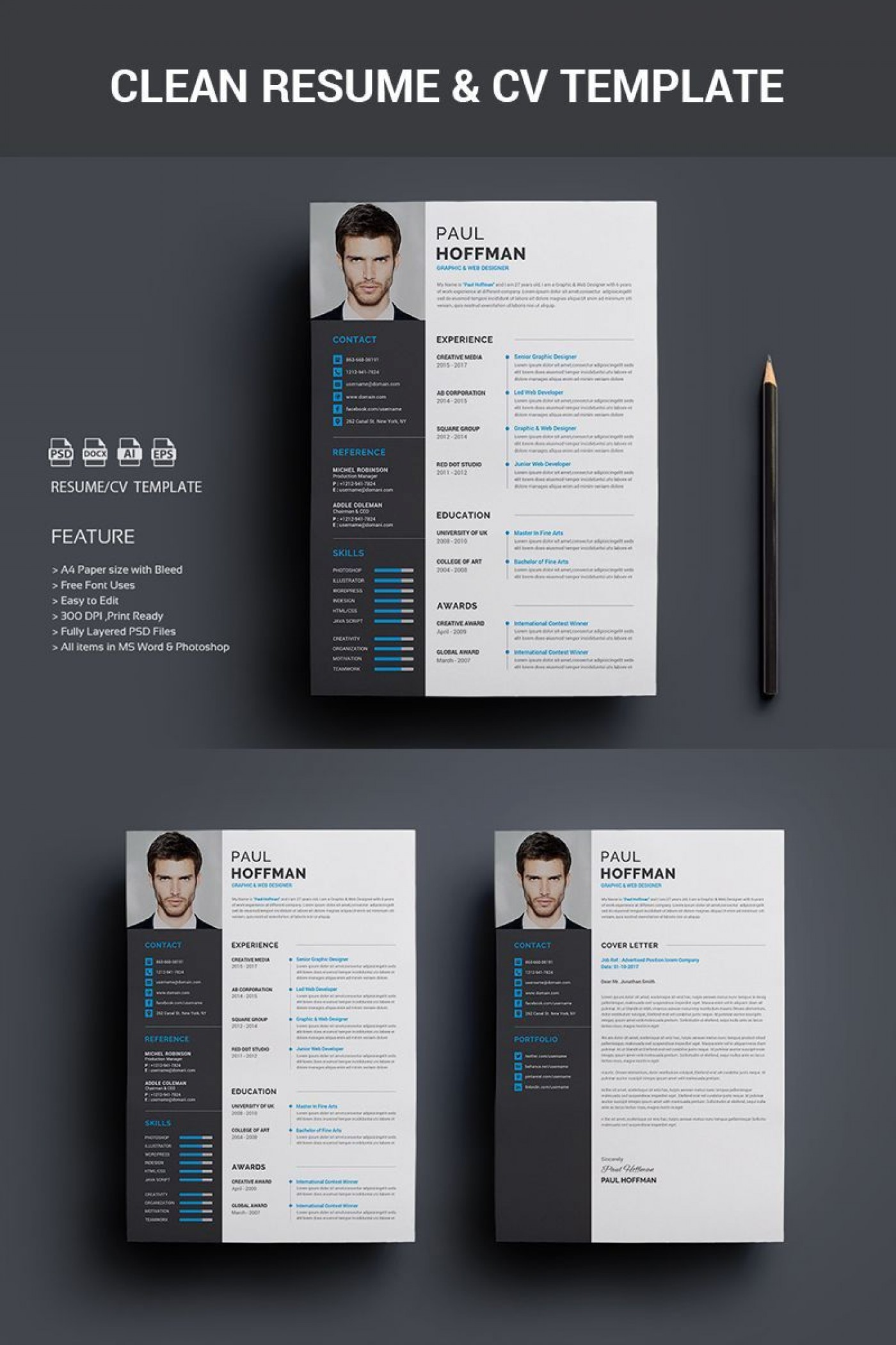 005 Archaicawful How To Create A Resume Template In Photoshop Image 1400