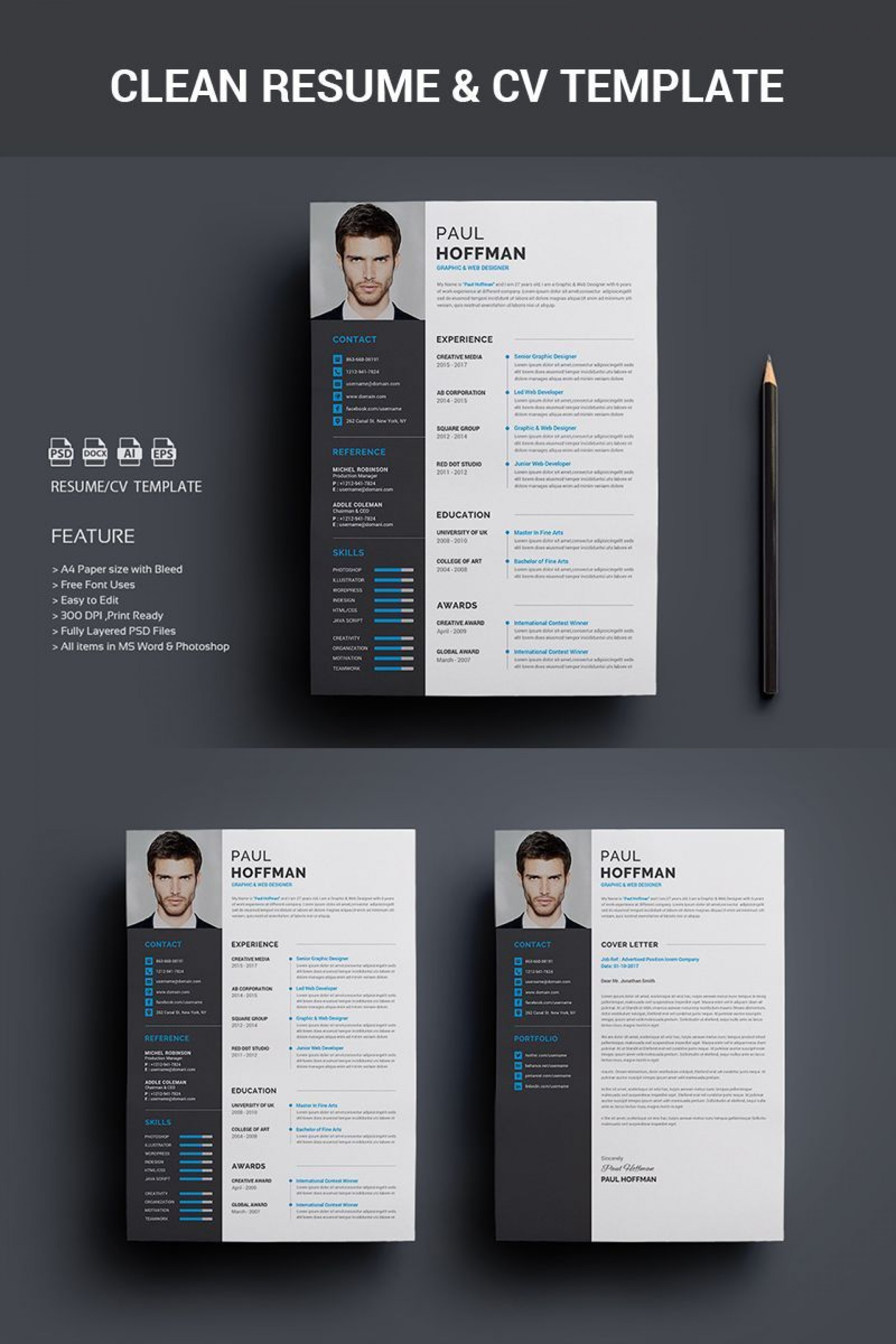 005 Archaicawful How To Create A Resume Template In Photoshop Image 1920