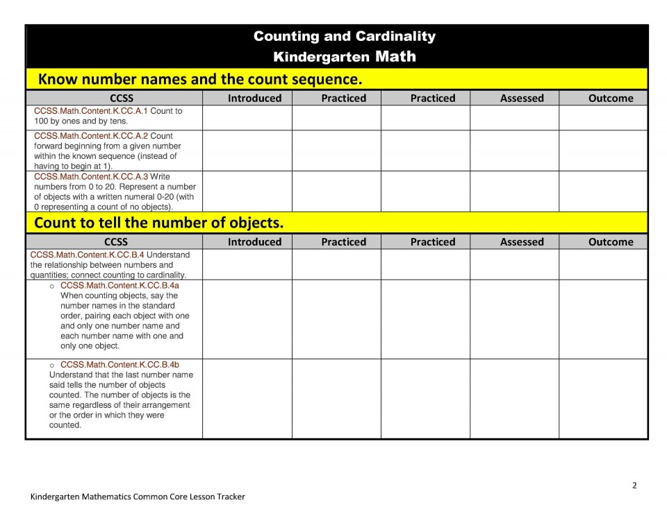 005 Archaicawful Kindergarten Lesson Plan Template With Common Core Standard Image  Sample Using960