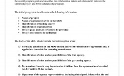 005 Archaicawful Letter Of Understanding Format Highest Quality  Sample Memorandum