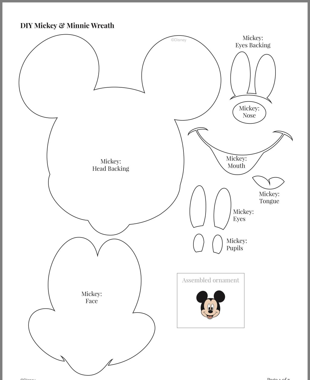 005 Archaicawful Mickey Mouse Face Cake Template Printable High Definition Large