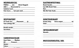 005 Archaicawful Nursing Report Sheet Template Sample  Icu Rn Printable
