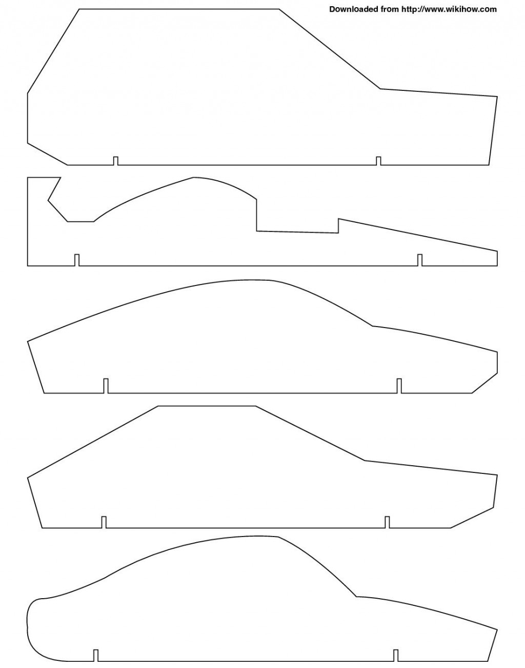 005 Archaicawful Pinewood Derby Car Design Template Highest Clarity  Fast WedgeLarge