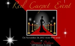 005 Archaicawful Red Carpet Invitation Template Free Highest Clarity  Download
