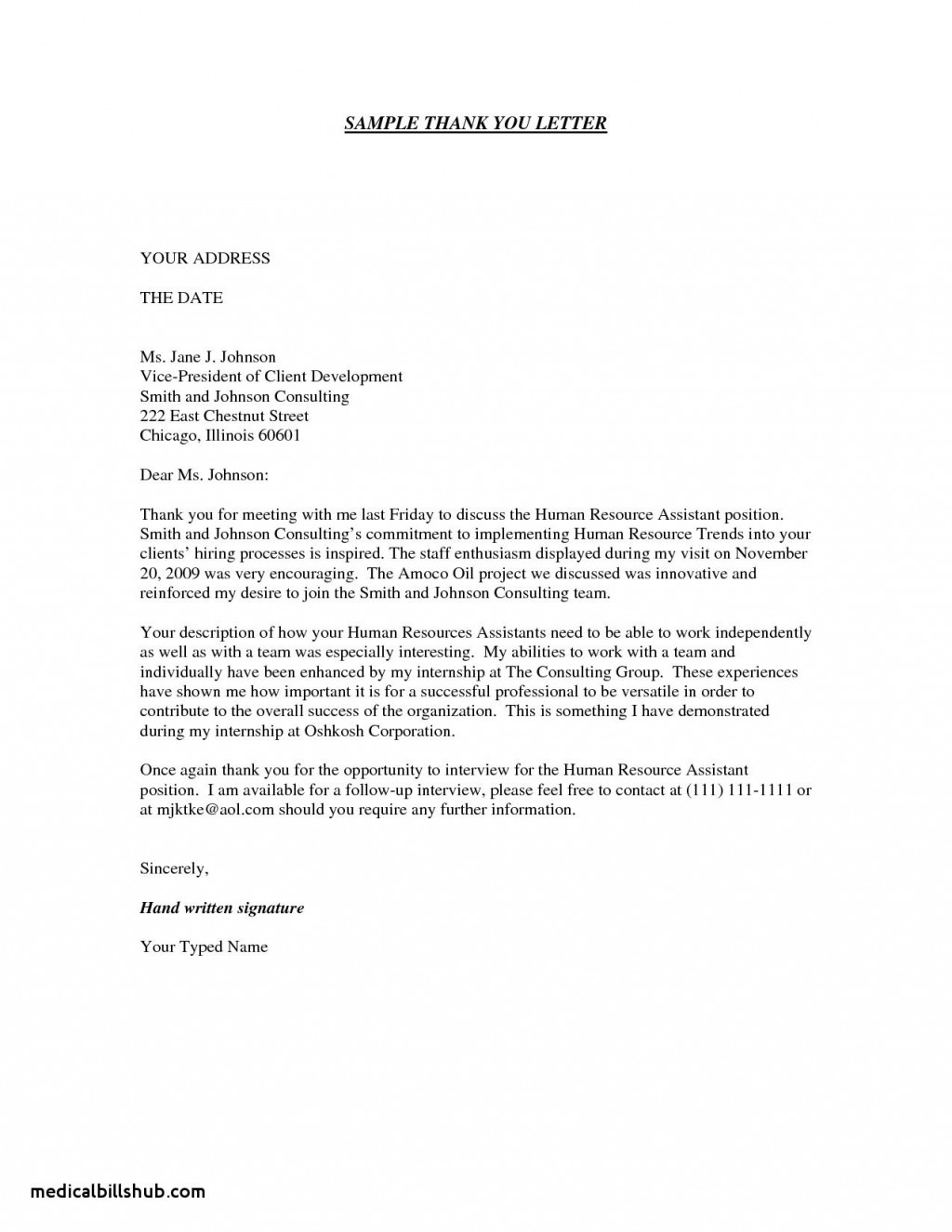005 Archaicawful Thank You Note Template Medical School Interview Concept  Letter SampleLarge