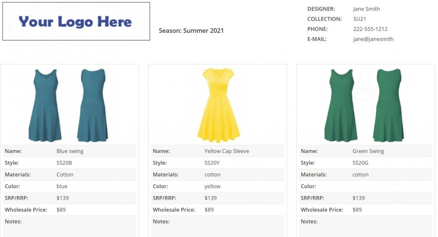 005 Archaicawful Wholesale Line Sheet Template Example  Free Excel Fashion