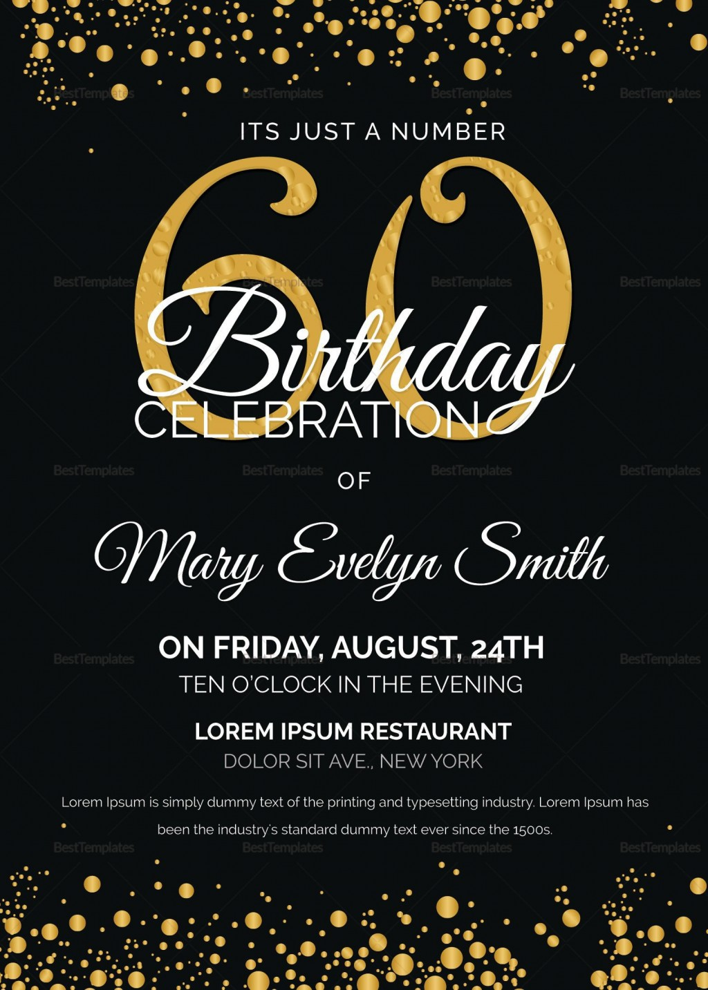 005 Astounding 60th Birthday Invite Template Idea  Templates Funny Invitation Free PartyLarge
