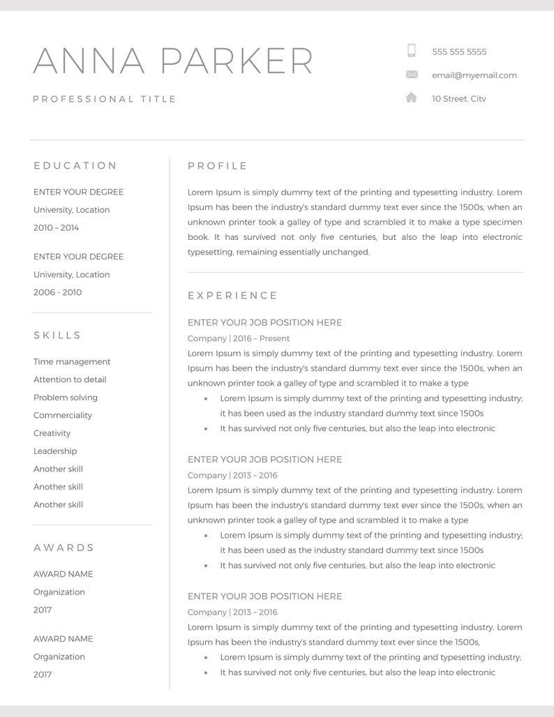 005 Astounding Basic Resume Template Word Concept  Free Download 2020Full