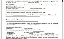 005 Astounding Catering Contract Template Free Idea  Word Sample Printable
