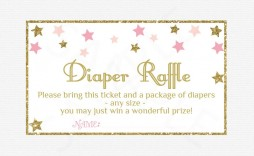 005 Astounding Diaper Raffle Ticket Template Highest Quality  Free Printable Download