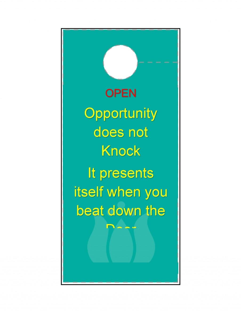 005 Astounding Free Online Door Hanger Template Sample  TemplatesLarge