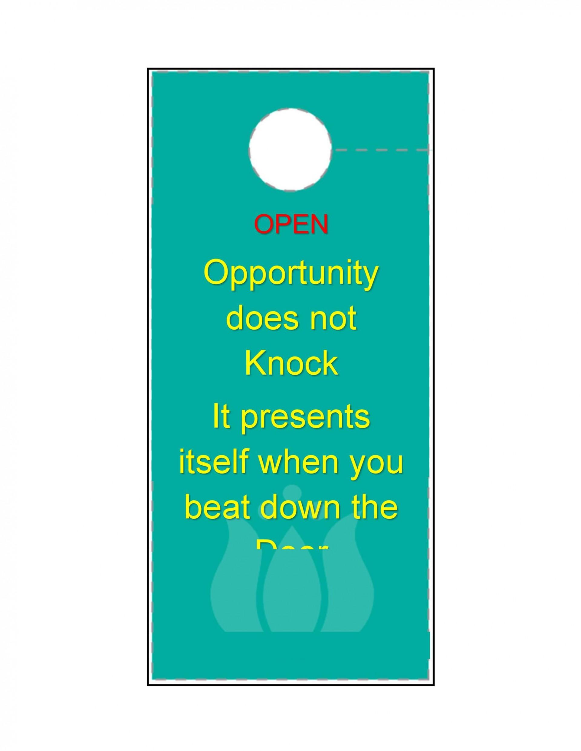 005 Astounding Free Online Door Hanger Template Sample  Templates1920
