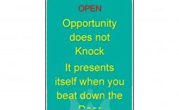 005 Astounding Free Online Door Hanger Template Sample  Templates