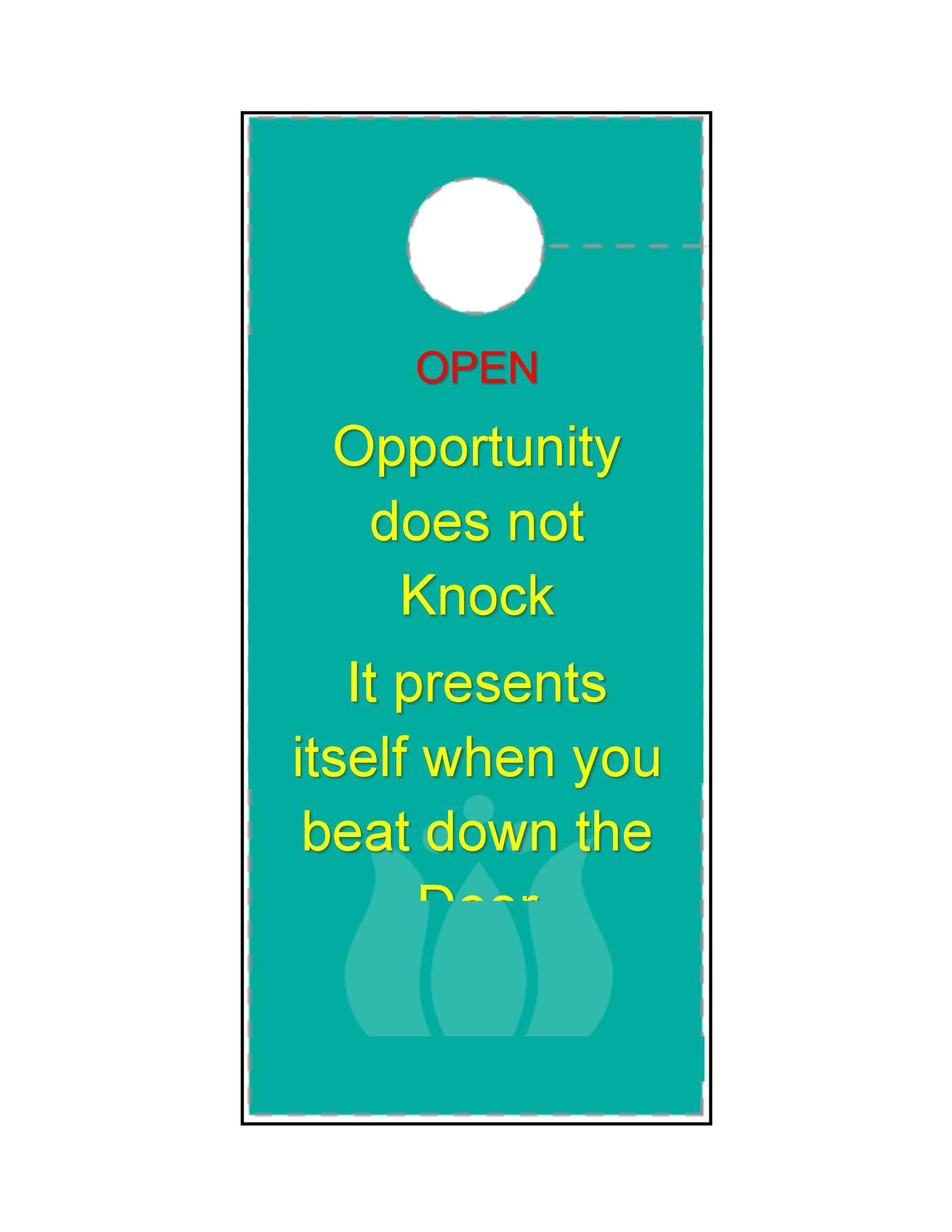 005 Astounding Free Online Door Hanger Template Sample  TemplatesFull