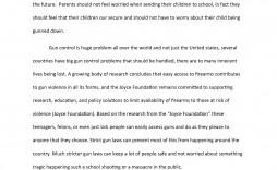 005 Astounding Gun Control Essay Example  Anti Thesi Argumentative Title