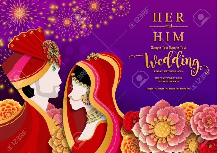 005 Astounding Indian Wedding Invitation Template Idea  Psd Free Download Marriage Online For Friend728