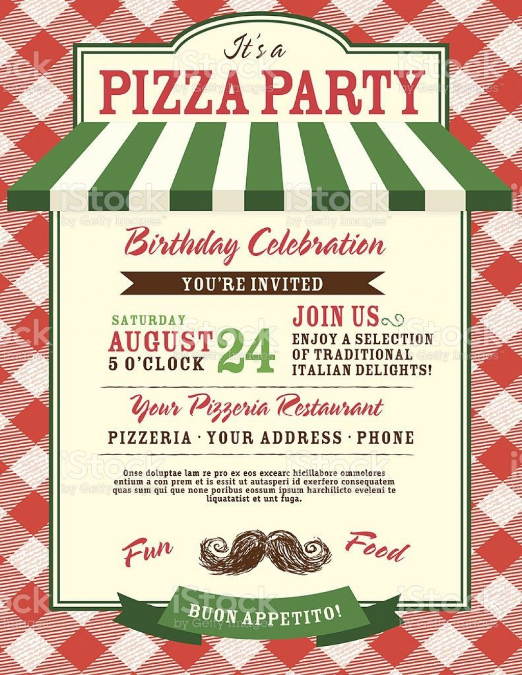 005 Astounding Pizza Party Invitation Template Free High Definition  PrintableLarge