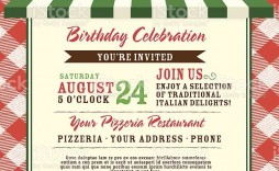 005 Astounding Pizza Party Invitation Template Free High Definition  Printable