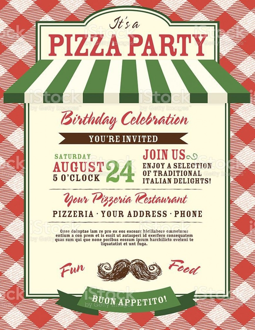 005 Astounding Pizza Party Invitation Template Free High Definition  Printable Card