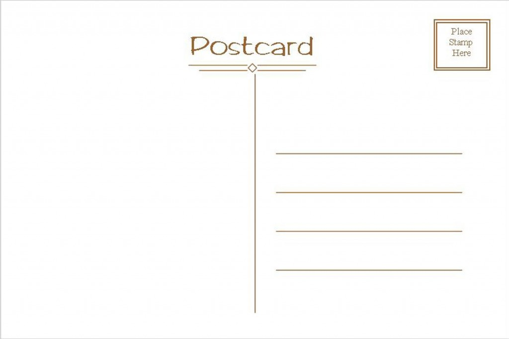 005 Astounding Postcard Template Front And Back Picture  Free WordLarge