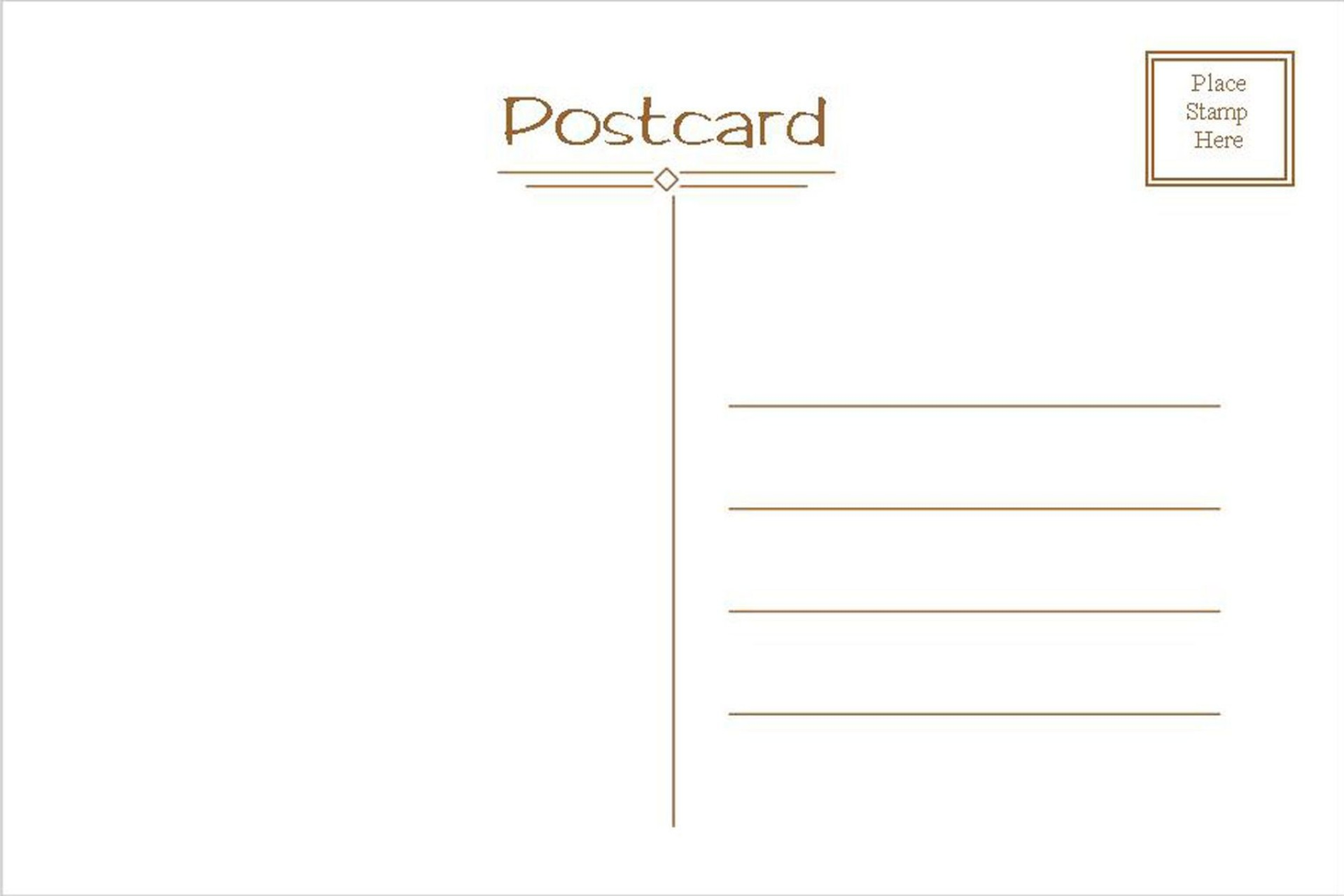 005 Astounding Postcard Template Front And Back Picture  Free Word1920