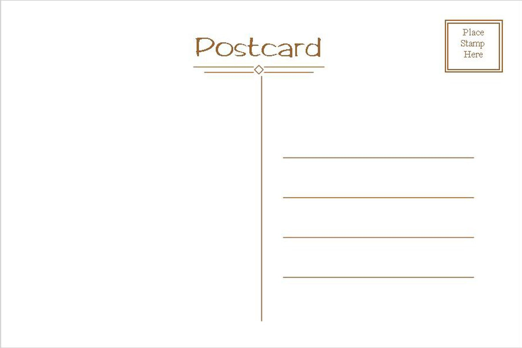 005 Astounding Postcard Template Front And Back Picture  Free WordFull