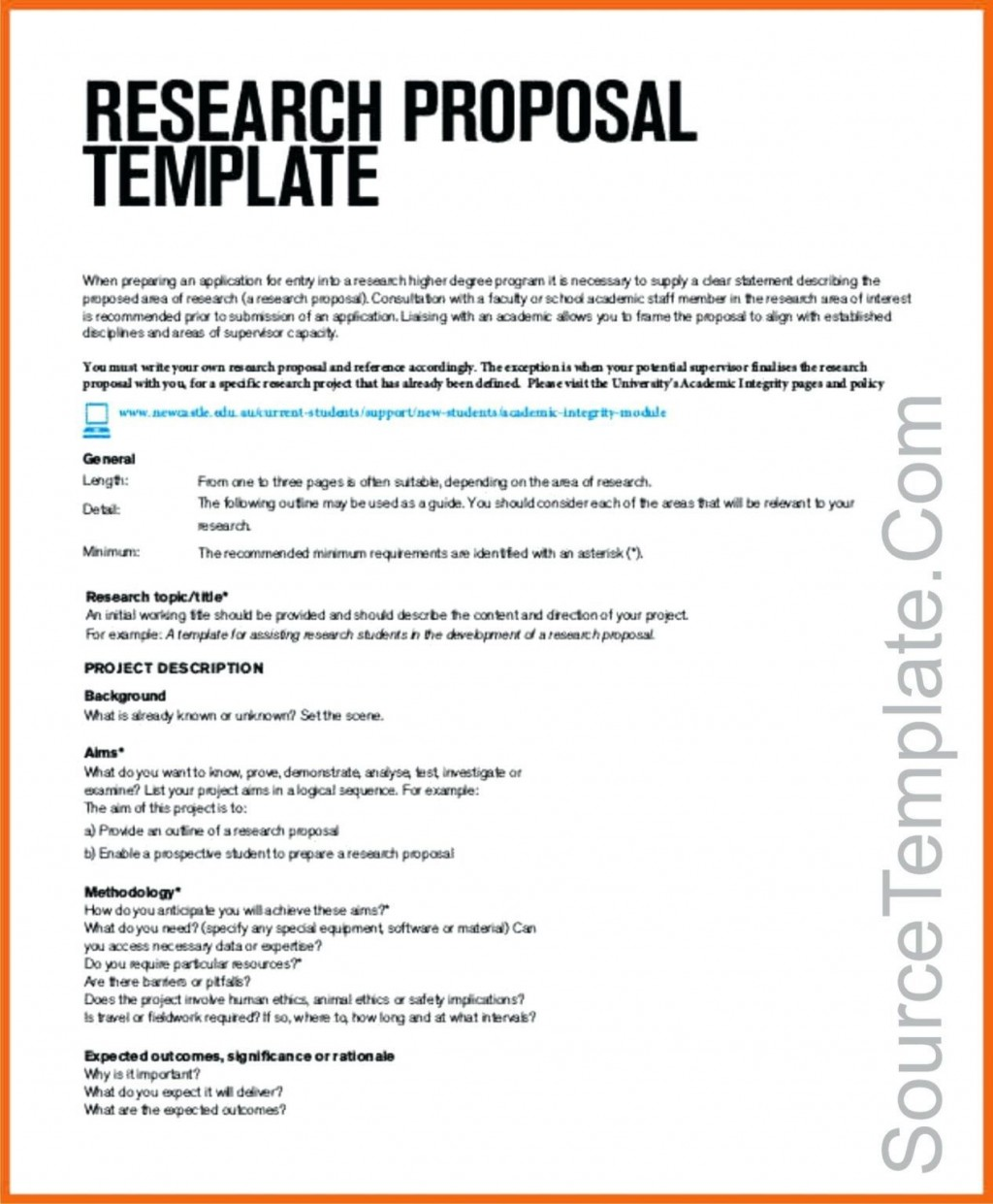 005 Astounding Research Project Proposal Example Pdf High Def  FormatLarge
