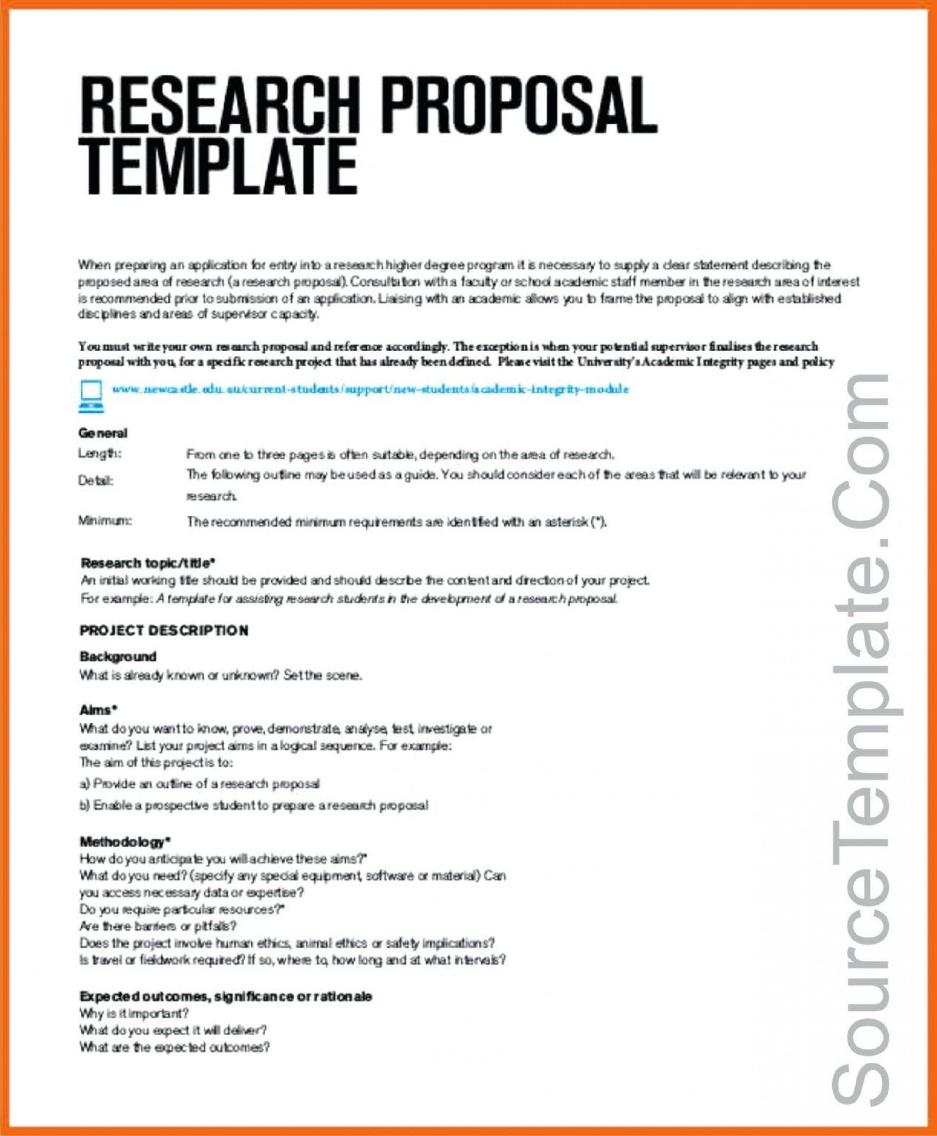 005 Astounding Research Project Proposal Example Pdf High Def  Format1920