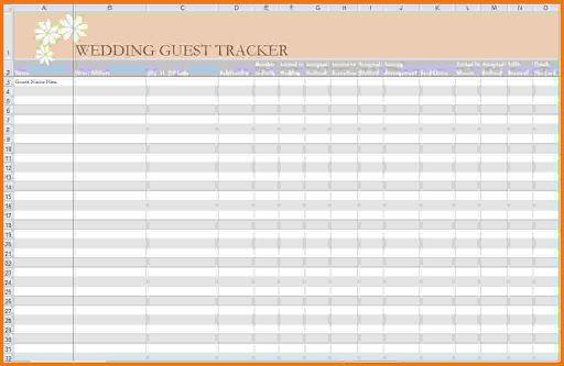 005 Astounding Rsvp Guest List Template Excel Inspiration Full