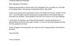 005 Astounding Sample Resignation Letter Template Email Inspiration
