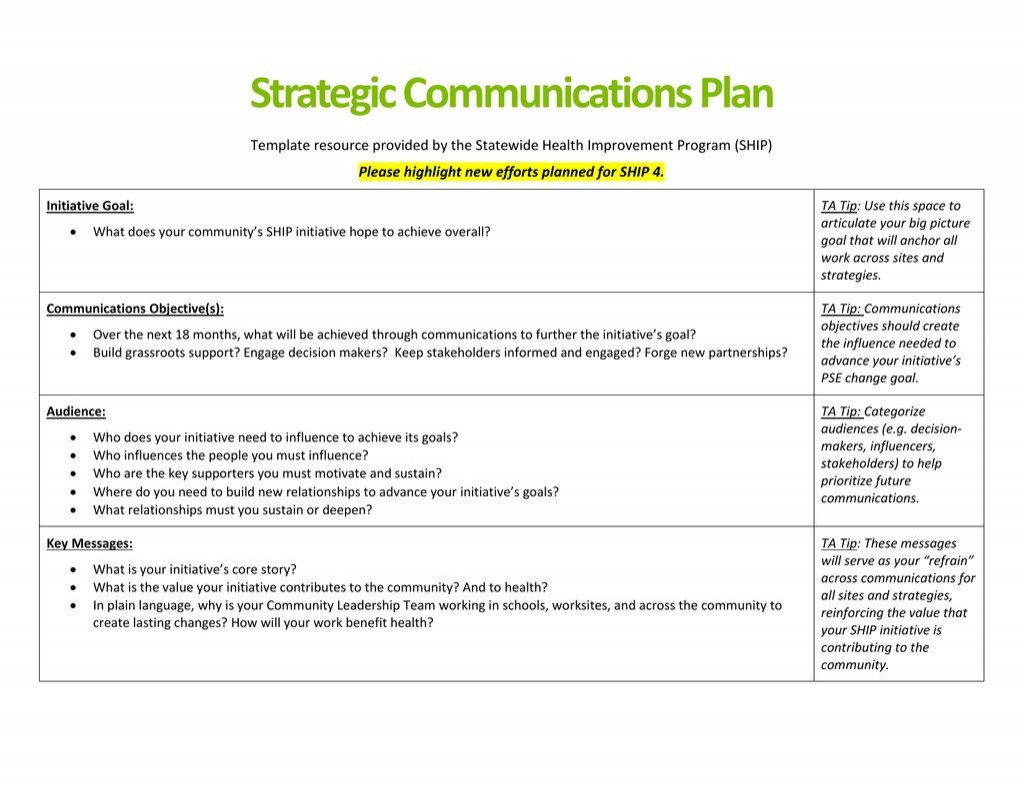 005 Astounding Strategy Communication Plan Template High Def  Internal And Action Example SampleLarge