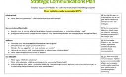 005 Astounding Strategy Communication Plan Template High Def  Internal And Action Example Sample