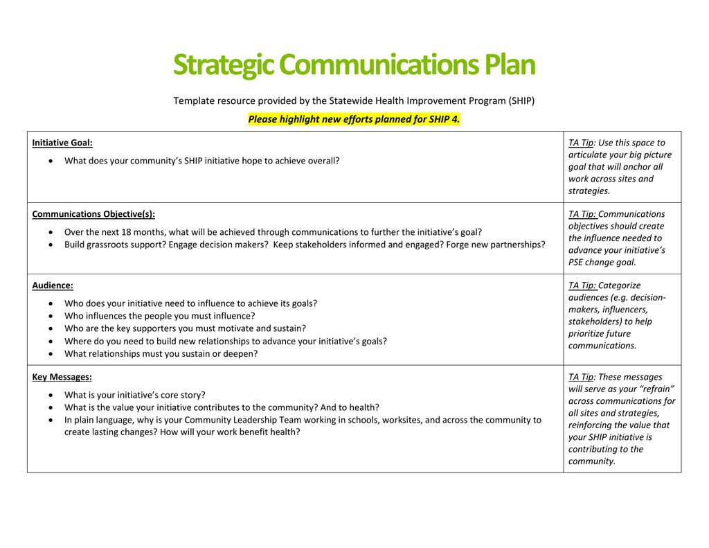 005 Astounding Strategy Communication Plan Template High Def  Internal And Action ExampleFull