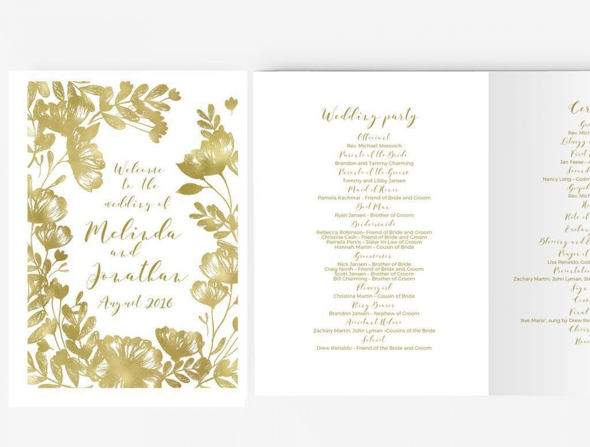 005 Astounding Wedding Program Template Word Sample  Catholic Mas Wording Idea Example Simple1920