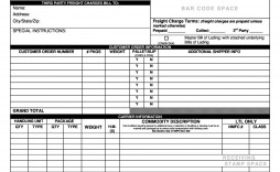 005 Awesome Bill Of Lading Template Word Free High Def  Form