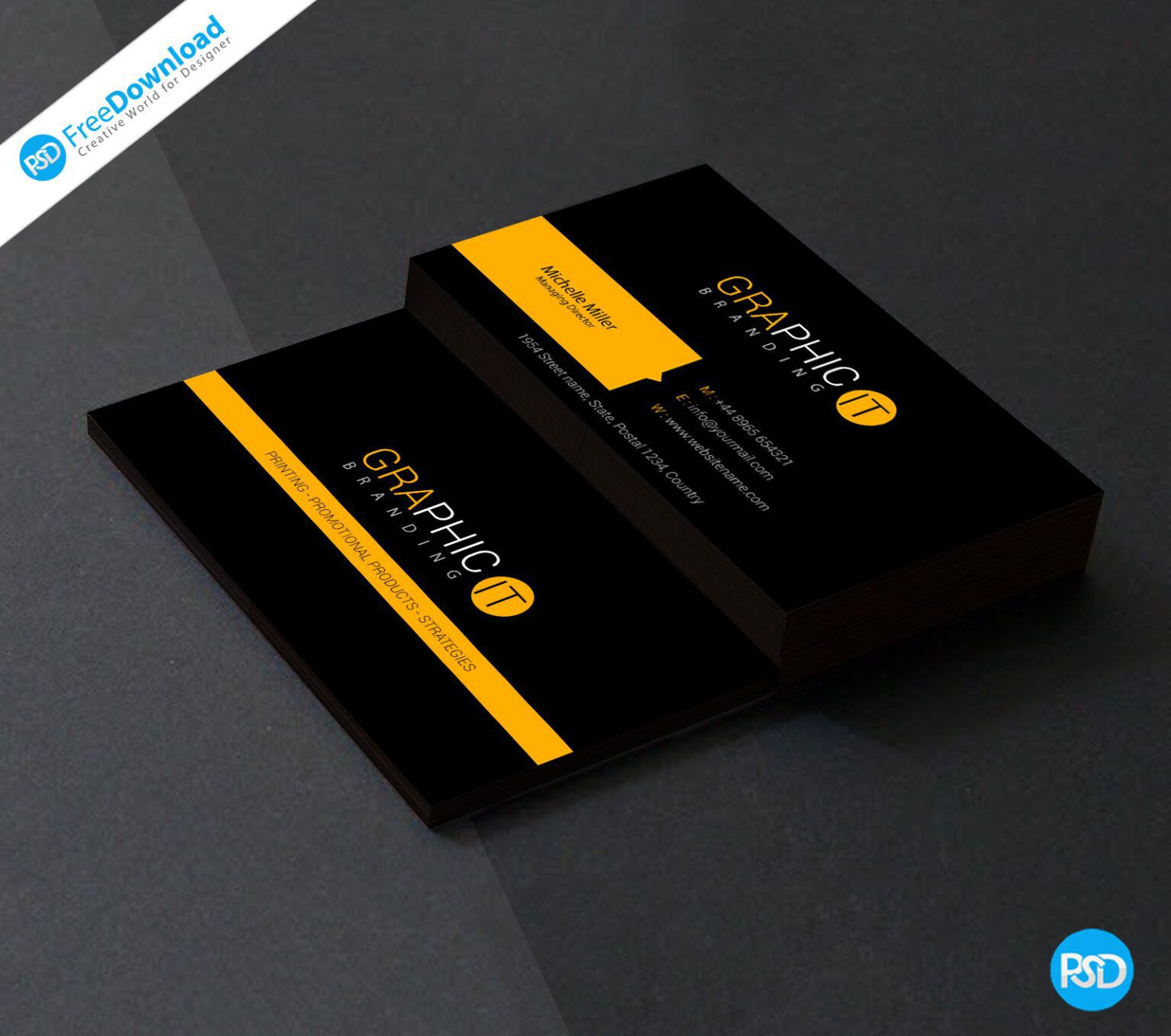 005 Awesome Blank Busines Card Template Psd Free Download Concept  PhotoshopFull