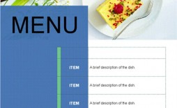 005 Awesome Food Menu Card Template Free Download Inspiration