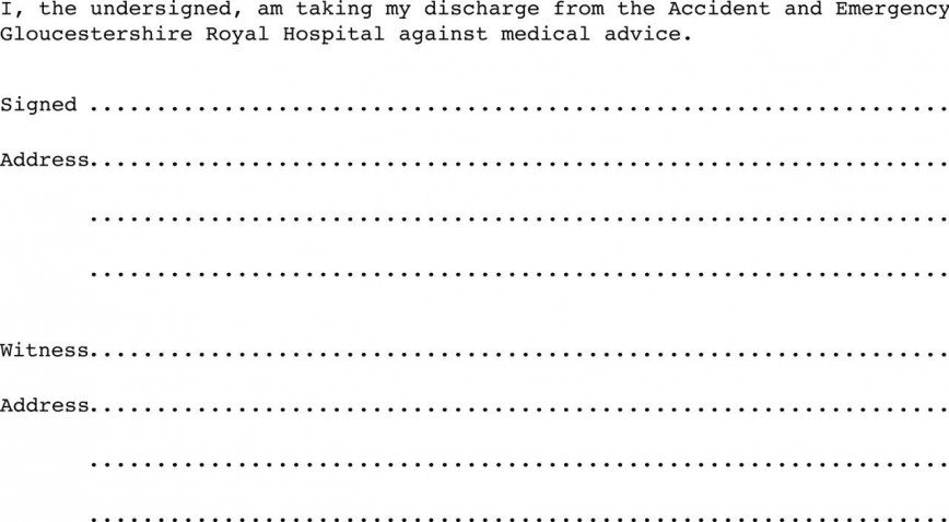 005 Awesome Free Hospital Discharge Form Template High Def 868